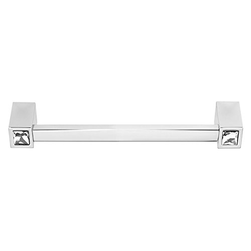 (Alno C718-6-PC Contemporary Crystal Modern Pulls, Polished Chrome)