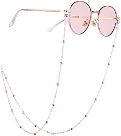 GJSC 2 PCS Multicolor Perlen Maske Lanyard Brille Kette f/ür Frauen Anti-Rutsch-Brille Halsschnur Maske Seil Verhindern Sie Maskenverlust
