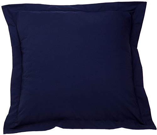 beddingstar European Square Pillow Shams Set of 2 Navy Blue Pillow Shams European Square 26x26 Pillow Cover- Luxurious 100% Soft Egyptian Cotton 600 TC Gorgeous Euro Size Decorative Pillow Covers (Sham And Euro Navy White)