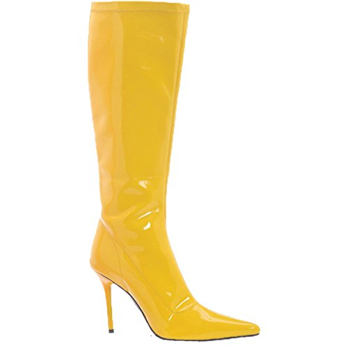 Emma Yellow High Heel Boots - Morris Costumes Emma Knee Pull On