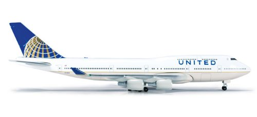 - United 747-400 (1:500) Post Continental Livery N119UA; HE518581-002