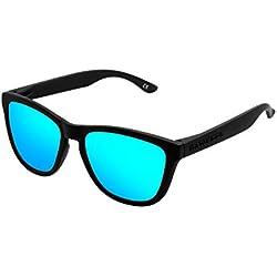 Hawkers Carbon Black Clear Blue One Gafas Deportivas para Niños, color Azul