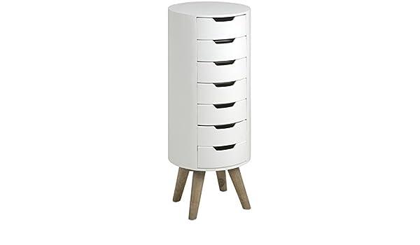 Retro contemporáneo elegante color blanco Tall Boy pecho de cajones Armario unidad – Retro Range (h16893): Amazon.es: Hogar