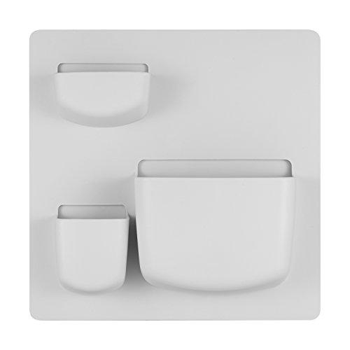 Wall Sticker Storage Rack,Household Paste Wall Shelf Bathroom Storage Rack Free Punch(8.46X8.46 inch) by FQMY