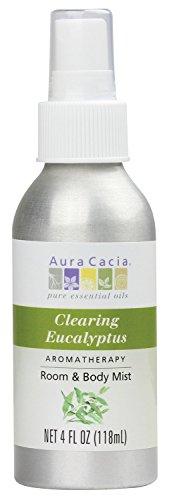 Aura Cacia Room and Body Mist, Clearing Eucalyptus, 4 Fluid - Aura Body Cacia