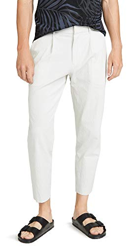 Theory Men's Page Sadler Pleated Trousers, Morter Bedrock, Off White, 29