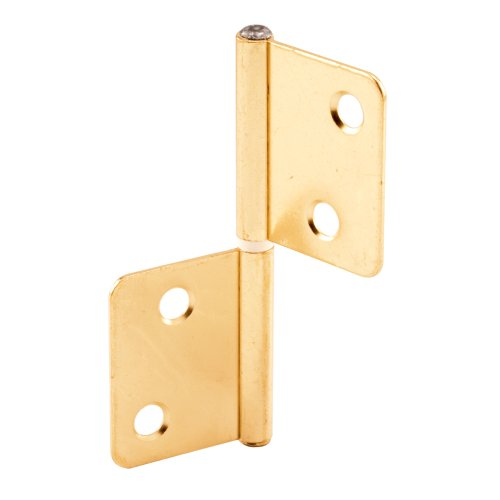 Slide-Co 162171 Bi-Fold Door Hinge, Brass Plated Steel (Door Closet Hinges Bifold)