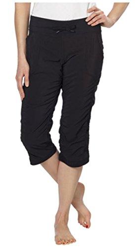 Kirkland Signature Women's Active Ruched Capri Pant (Small, Black)
