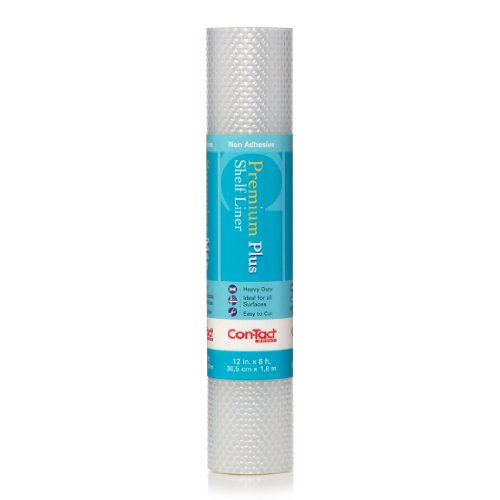 Con-Tact Brand Non-Adhesive Shelf Liner, 12'' x 6', Nova Crystal Clear