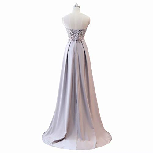 Kleider Formale Frauen Mermaid V Party Ausschnitt Orange Doppel Lange Abendkleid wvxE4nB8q