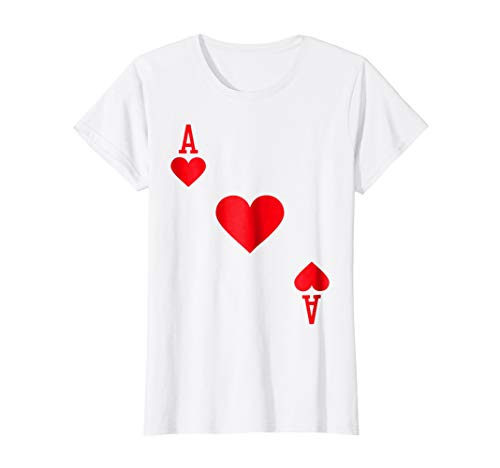 Womens Ace of Hearts Costume T-Shirt Halloween Deck