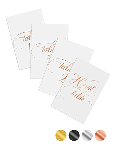 Wedding Table Numbers Rose Gold 1-25 Centerpiece Decorations Rose Gold Table Numbers for Wedding Double Sided 4