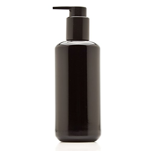 Infinity Jars 200 Ml (6.8 fl oz) Black Ultraviolet Glass Soap Dispenser ()