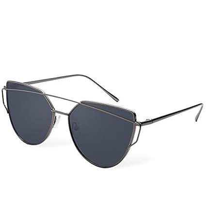 TL-Sunglasses Ojo de Gato Gafas de Sol Mujer sesgada en ...