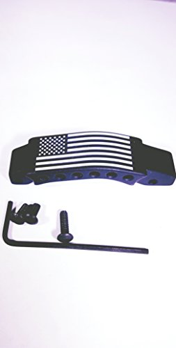 6 Hole Trigger Guard Black Flag
