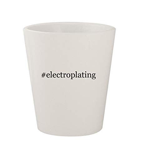 #electroplating - Ceramic White Hashtag 1.5oz Shot Glass