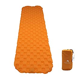 Premium Ultralight Inflatable Camping Sleeping Pad – Padded Inflating Air Mattress with Lightweight Bag – Adults or Kids…