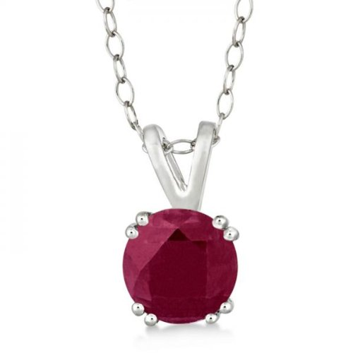Genuine-Ruby-Solitaire-Pendant-Necklace-for-women-Sterling-Silver-Prong-Set-160ct