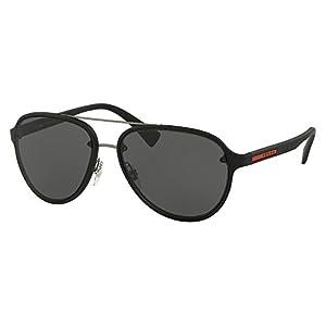 Prada Linea Rossa Men PS 52SS 58 Black/Grey Sunglasses 58mm