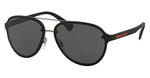 Prada Linea Rossa Men PS 52SS 58 Black/Grey Sunglasses - Mens Prada