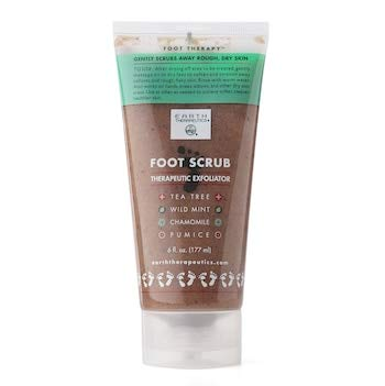 Foot Scrub by Earth Therapeutics,Brown,6 oz