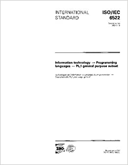 ISO/IEC 6522:1992, Information technology - Programming languages - PL/1 general purpose subset
