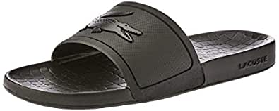 Lacoste Women's FRAISIER Slides Fashion Sandals, Black, 5 US