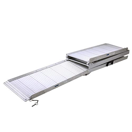 - Portable Folding 5FT Aluminum Wheelchair Loading Ramp w/Handle with Ebook