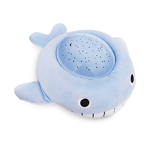 Baby Sleep Soother Whale Blue Plush Toy Fall-Asleep Nightlight with 4 Color Changing for Kids, Sleep Aid, Baby Gift -