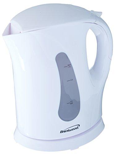 1.7 Liter Cordless Plastic Tea Kettle in White
