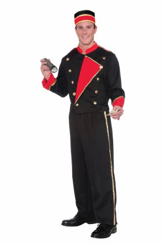 Forum Novelties Vintage Hollywood Movie Usher Costume, Black/Red, - Usher Uniform