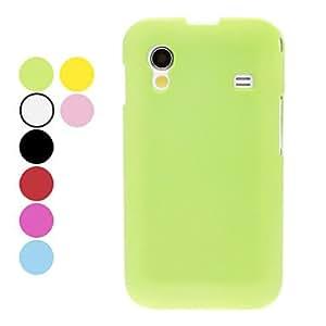 Teléfono Móvil Samsung - Cobertor Posterior - Color Sólido - para Samsung Ace S5830 ( Negro/Blanco/Rojo/Verde/Azul/Rosado/Amarillo/Rosa , Plástico ) , Yellow