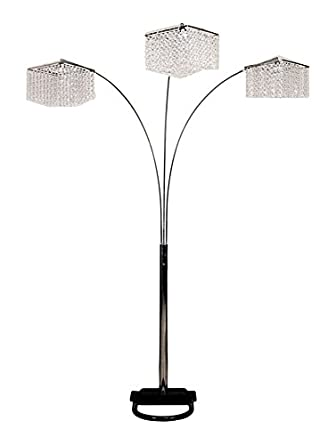 Nice SH Lighting Crystal Inspired 84 Inches Tall Floor Lamp 6932