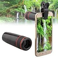12X Mobile Camera Telephoto Lens with 12 X Power Zoom -No Dark Corners- Universal Clip Compatible with All Smartphones