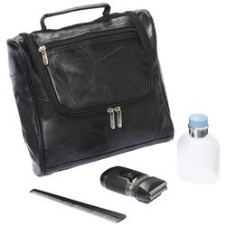 Embassy Italian Stone Design Genuine Lambskin Leather Toiletry (Lambskin Mini)