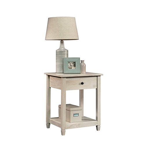 Sauder Edge Water Side Table, Chalked Chestnut finish (White Oak Bedroom Sets Furniture)