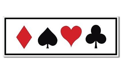 card heart spade diamond club  Amazon.com: Card Suits Heart Spade Diamond Club Vinyl ...