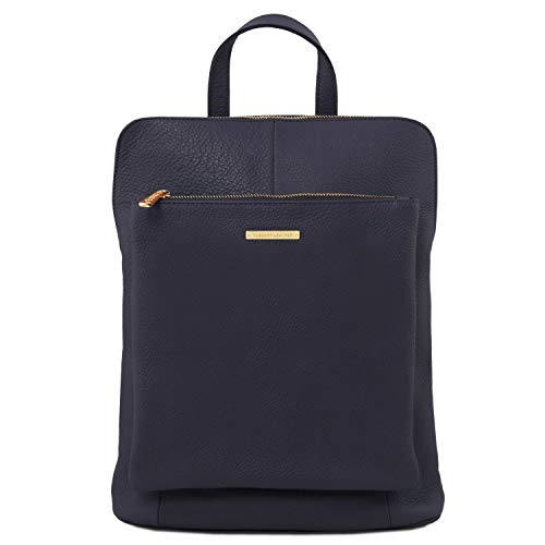 Tl141682 Tuscany rojo Para Bag Tl Azul Suave Mujer Piel Mochila Oscuro Leather En TrqTz1