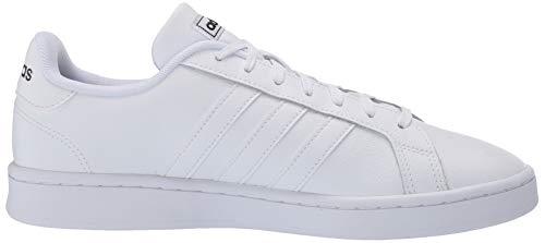 adidas mens Grand Court Sneaker, Ftwr White/Ftwr White/Core Black, 11.5 US