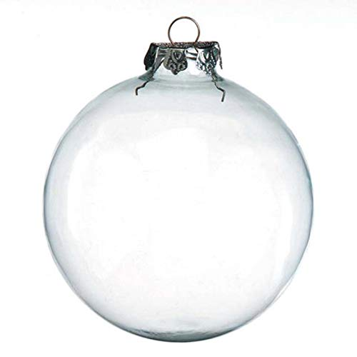 Darice 2-Piece Glass Balls, 100mm, Clear ()