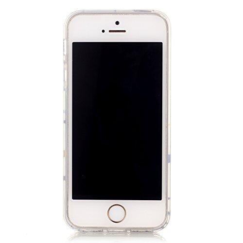 Vanki® Fundas iPhone 5S 5 SE, Suave TPU Funda Parachoques Funda Absorción de Impactos y Anti-Arañazos Case Cover Carcasa Para iPhone 5S 5 SE 11