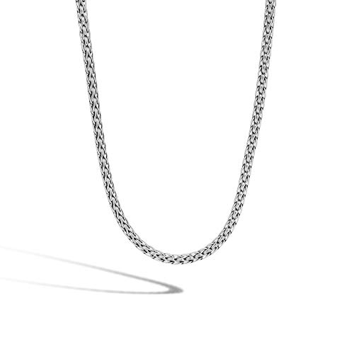 John Hardy Women's Classic Chain Silver Slim Necklace 3.5mm, Size 18