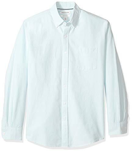 Frat Boys Halloween (Amazon Essentials Men's Regular-Fit Long-Sleeve Solid Pocket Oxford Shirt, Aqua,)