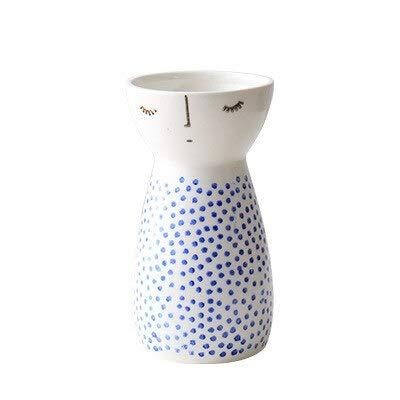 15% - Modern Cute Girl Design Vase Ceramic Flower Vase Porcelain Figurines Ornaments Wedding Decorations Doll Heads Small Vases - by GTIN - 1 Pcs - Ceramic Angel - Porcelain Sculptured Vase Design