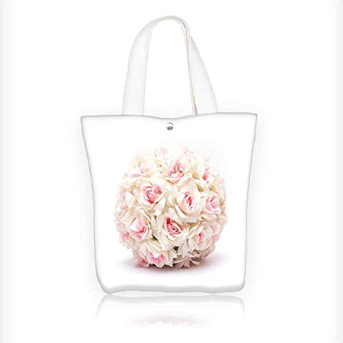 (Canvas Shoulder Hand Bag Flower ball on a white background Tote Bag for Women Large Work tote Bag Shoulder Travel Totes Beach Bag W11xH11xD3 INCH)