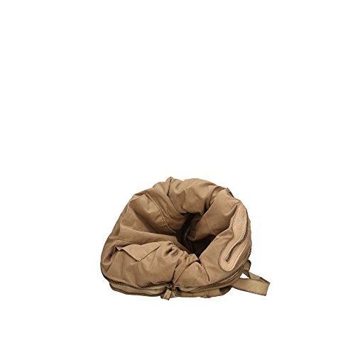 à véritable in Cm bandoulière cuir femme Légère 40x34x16 Sac Aren Italy en Boue Made Y51qBw8