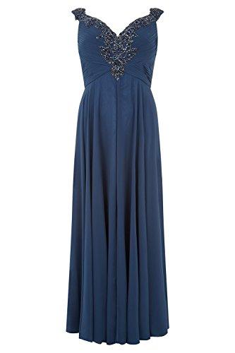 Curve Stil Damen mit Kleid Petrol Blue Dynasty Schal 31012712 lange petrol Astrid blau zZAxnfqwd