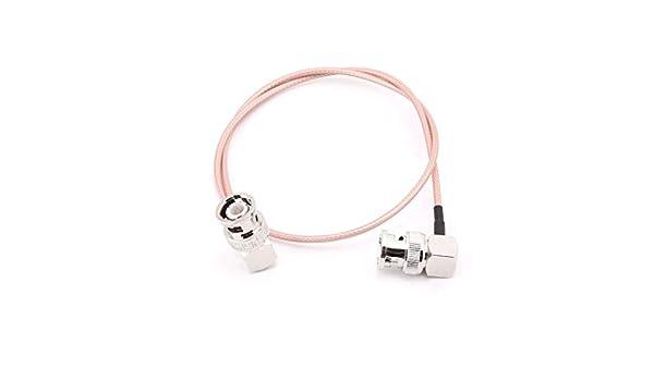 JOYKK Codo BNC Macho a Codo Macho BNC Cable RG316 Pigtail ...