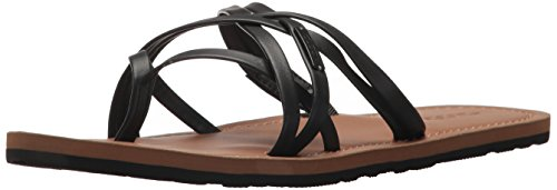 Volcom Women's Happy Multi Strap Fashion Flat Sandal Black qP7I371j