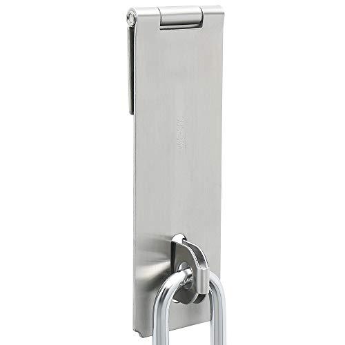 Steel Door Latches Stainless (Alise MS700-6C 6-Inch Dilated Padlock Hasp Door Clasp Heavy Duty Gate Lock,Stainless Steel Brushed Nickel)